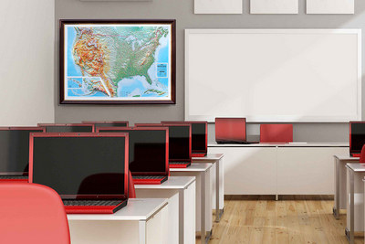 3D maps for classroom decoration