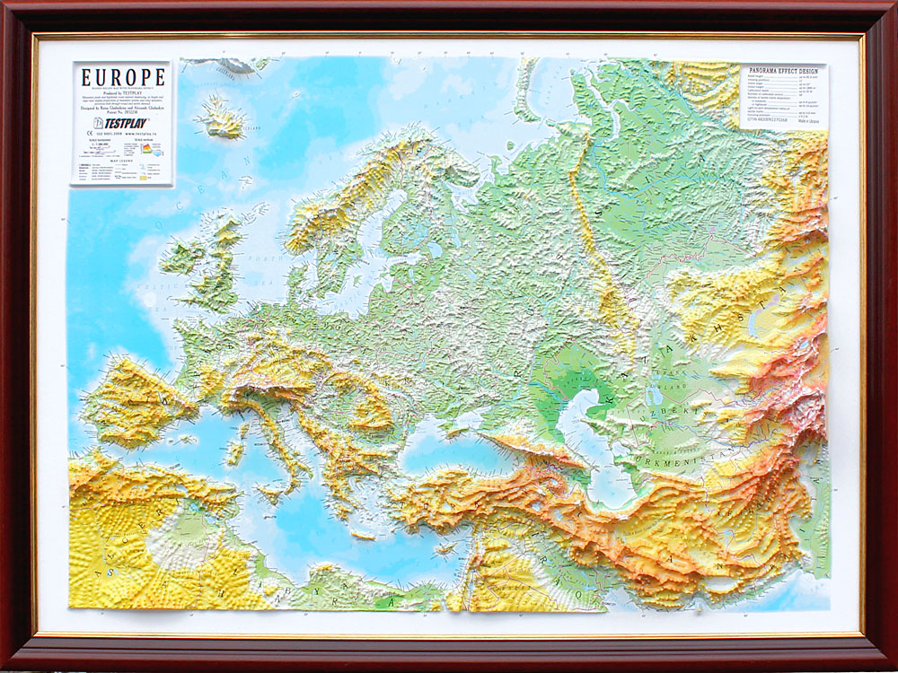 Europe wall decor 3D map for your home and office