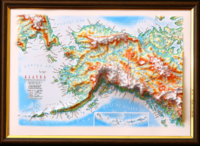3d relief alaska map wall decor testplay version gift