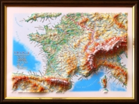 3d relief france map decor testplay version gift 1tn