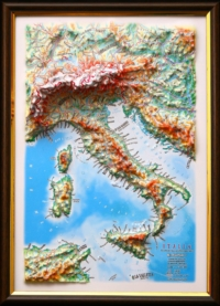 3d relief italy map decor testplay version gift