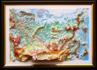 3d relief russia map decor testplay version gift 1 tn