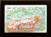 3d relief austria souvenir map decor testplay 3d magnet fridge