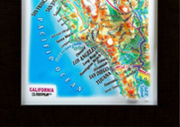 3d relief california gift map testplay room home decor _