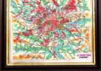 3d relief le grand paris souvenir map decor testplay 3d magnet fridge th