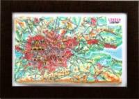 3d relief london souvenir map decor testplay 3d magnet fridge th