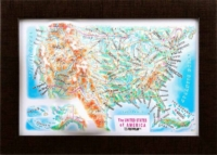 3d relief usa souvenir map decor testplay 3d magnet fridge th