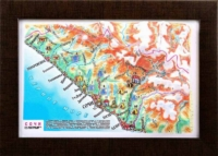 3d relief sochi souvenir map decor testplay 3d magnet fridge th
